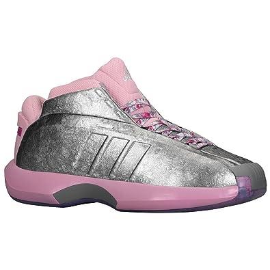 cheap for discount 772d1 96e6a adidas Crazy 1 Men s Shoe C76100 Florist John Wall Pink Rose Silver Kobe  Size 10