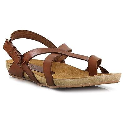 cc9a7edd9 Yokono Women s Thong Sandals Brown Brown Brown Size  5  Amazon.co.uk ...