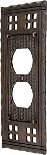 Arts and Crafts Single Duplex Outlet Cover Plate in an Oil-Rubbed Bronze Finish  sc 1 st  Amazon.com & Hammered Craftsman Style Doorbell Button - Doorbell Push Buttons ...