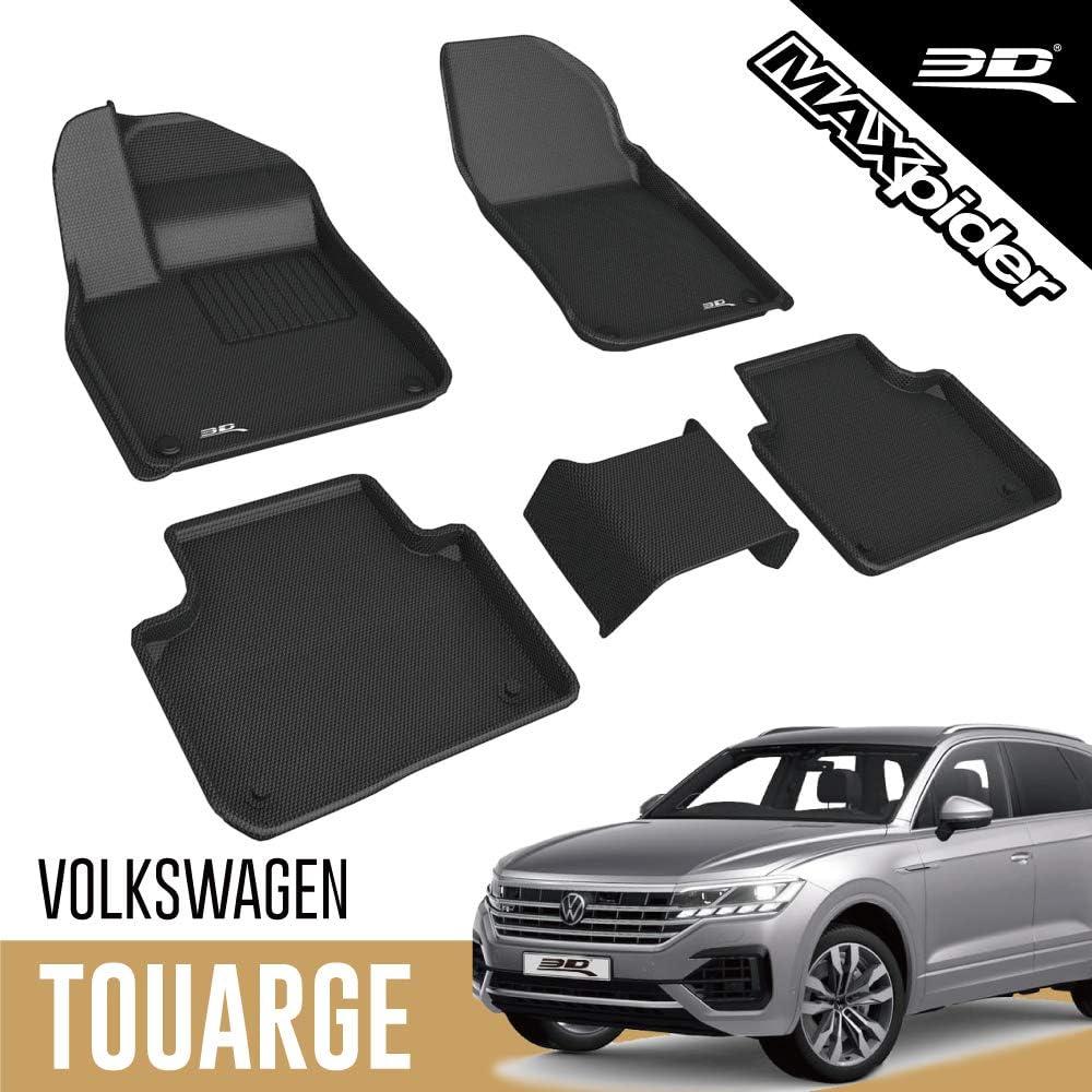 3d Maxpider Allwetter Fussmatten Für Volkswagen Vw Touareg Cr 2018 2020 Passgenaue Fußmatten Auto Gummi Matten Gummimatten Auto