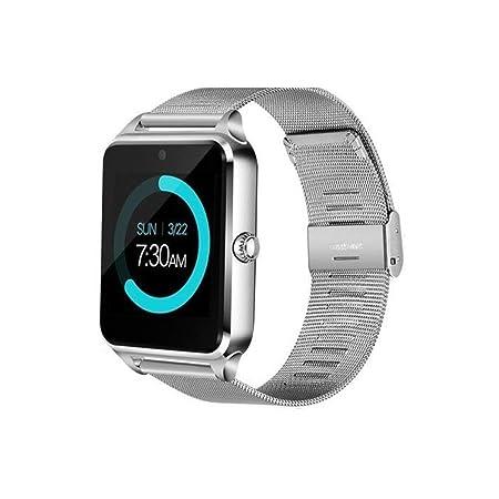 Voiks Smartwatch, Reloj Inteligente Android/iOS con Ranura para Tarjeta SIM,Pulsera Actividad Inteligente para Deporte, Reloj Iinteligente Hombre ...