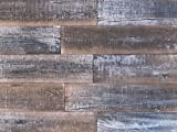 interior wood paneling Smart Paneling 11337 Antique Wood Wall Planks, Gray/Brown, 14 Piece