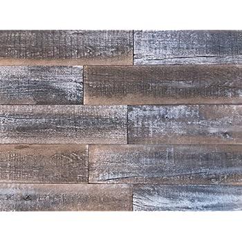 Amazon com: Rustic Pine Wood Wall Planking - Driftwood Gray