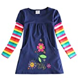Amazon Price History for:VIKITA 2017 NEW Kid Girl Embroidery Cotton Dress Long Sleeve For 2-8 Years