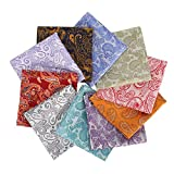 Mens 10 Pack Assorted Pocket Square Handkerchief Hanky (D5)