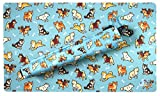 Shibas Blue Playmat Playmat Bag Kit - Inked Gaming / Perfect for TCG Card Gaming Magic The Gathering Card Gaming Playmat Tube Plus Playmat