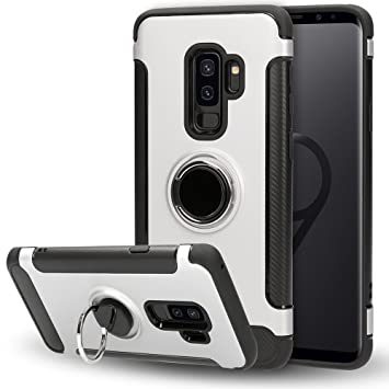 NALIA Funda con Anillo Compatible con Samsung Galaxy S9 Plus, Carcasa Soporte Movil Coche Magnetico con 360 Grados Kickstand, Movil Ring-Case Cover ...