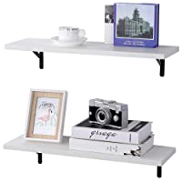 Deals on Set Of 2 SUPERJARE Wall Mounted Shelves