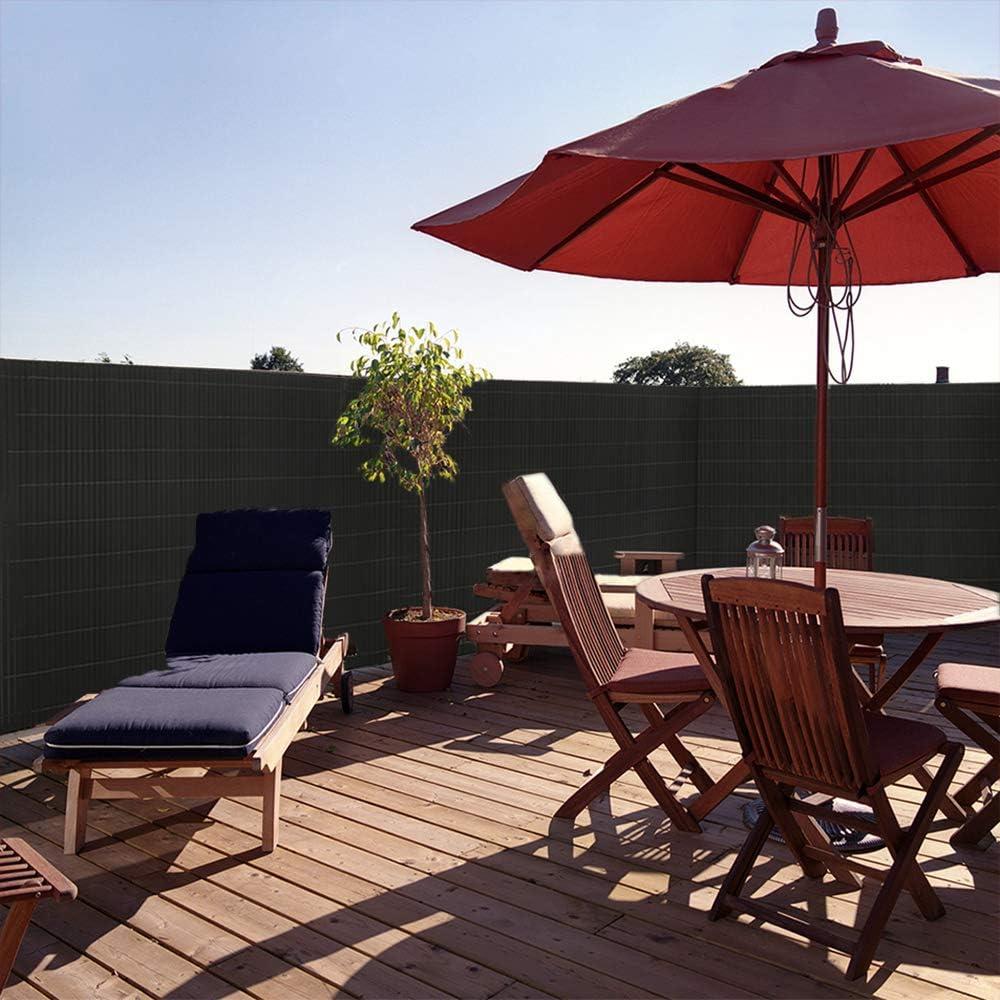 Estera de protecci/ón Visual de PVC protecci/ón contra el Viento jard/ín y terraza protecci/ón Solar para balc/ón UISEBRT