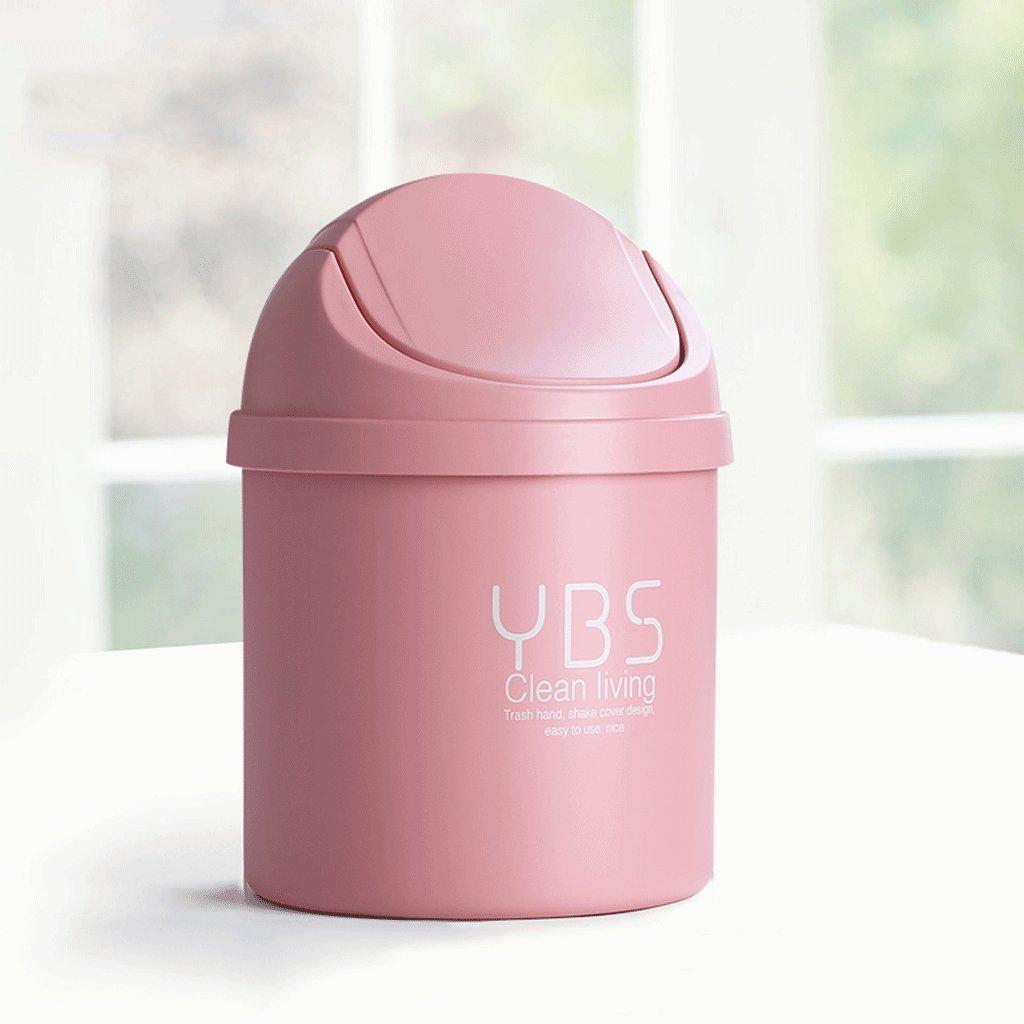 Meters Semplice creativo camera da letto soggiorno personalità home office rosa di plastica pattumiera coperchio mini 4L