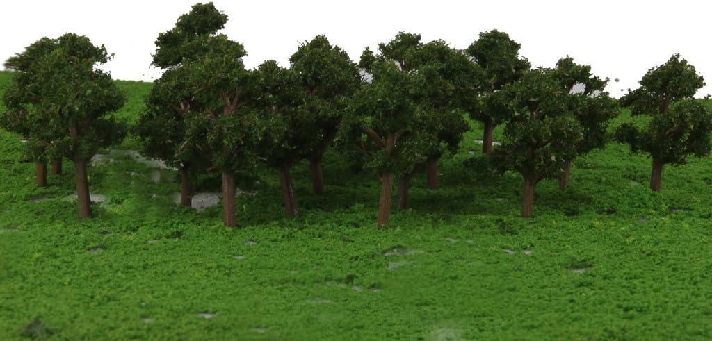 10x Alberi Scenario Miniature Modello Treni Paesaggio Banyan Scala 1:75-100