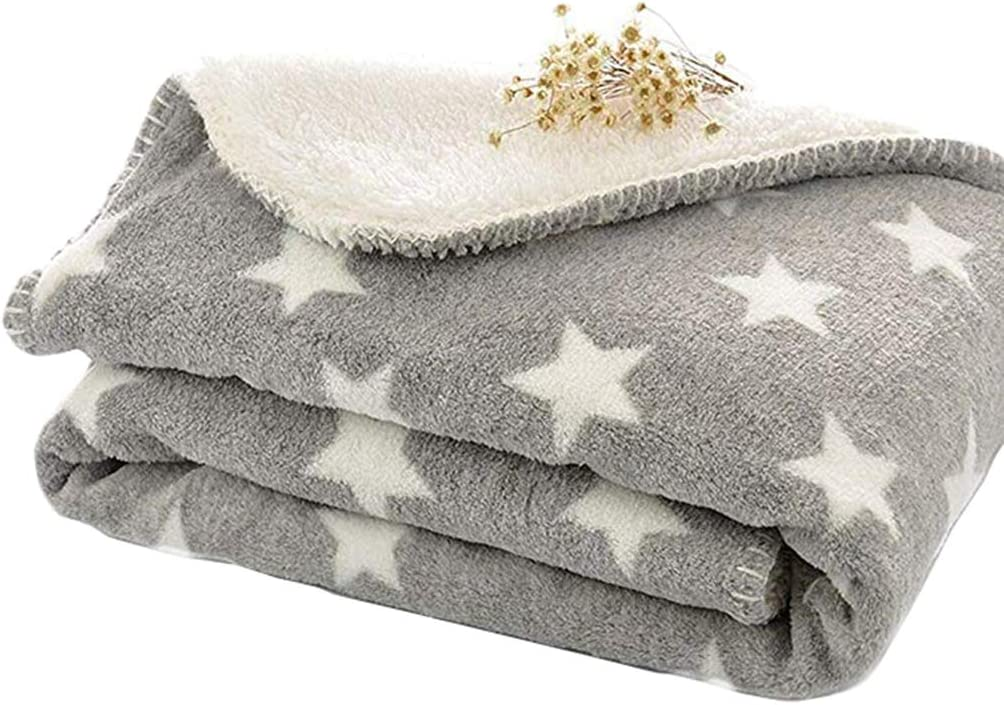 Lefu Dog Blankets waschbares Korallenvlies f/ür Scho/ßhunde /& Katzen Star Printed S/ü/ß