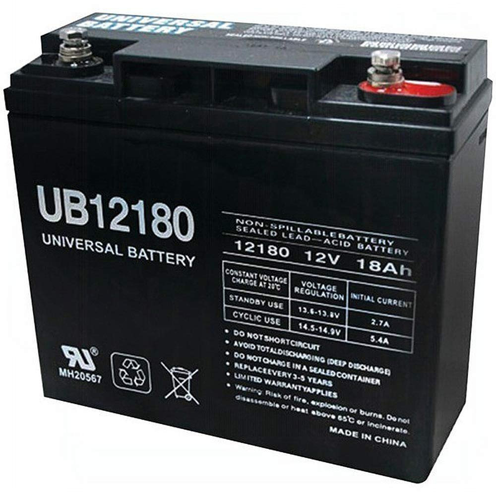 Universal Power Group UB12180 12V 18AH SLA Internal Thread Battery for Generac 7500 EXL Generator by Universal Power Group (Image #1)