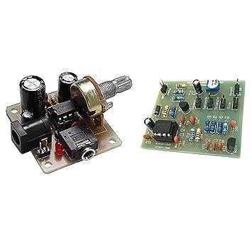 Gazechimp Chip de Amplificador Audio LM386 Circuito Externo Señal Audio LM386 ICSK025A