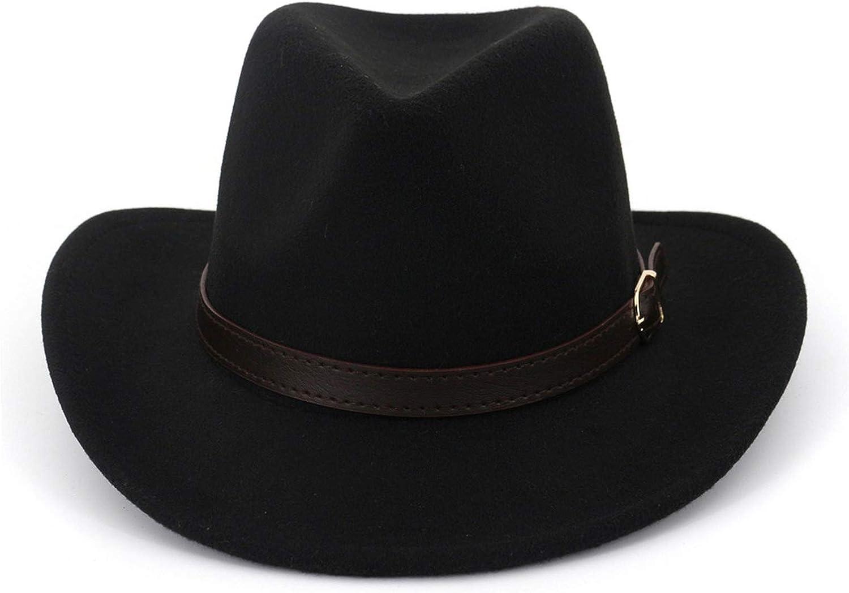 DOSOMI Fashion Women Men Wool Fedora Hat for Gentleman Elegant Lady Wide Brim Jazz Church Godfather Cap