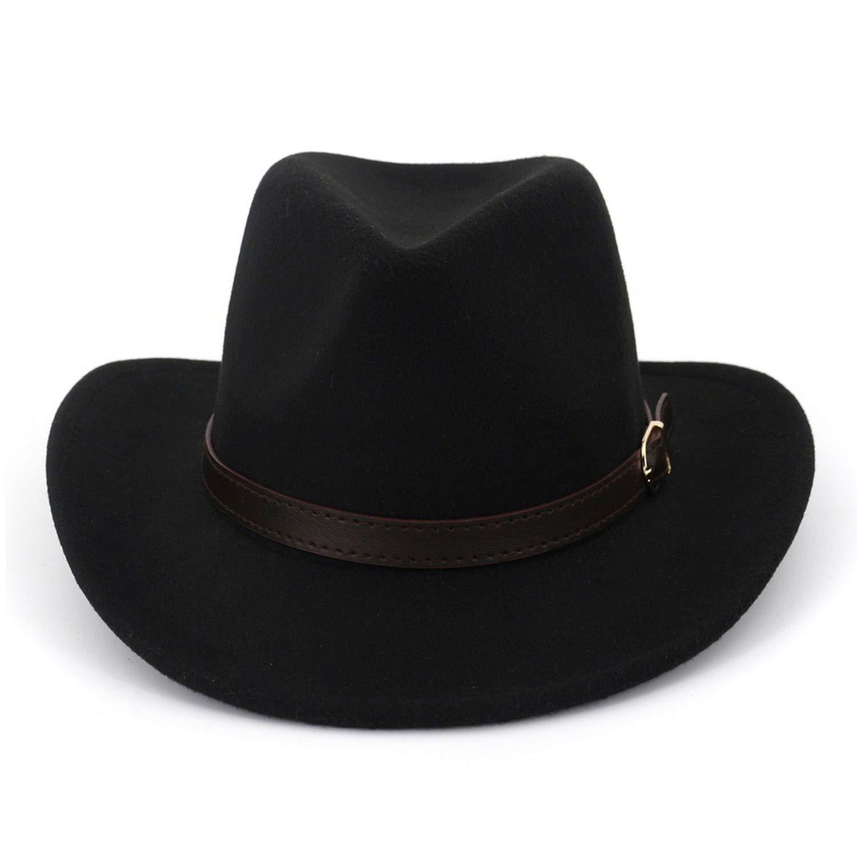 Autumn Ladies Winter Fedora for Men Black Red Imitation Woolen Wide Brim Vintage Top Jazz Hat Bowler Hats