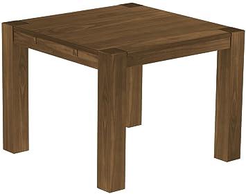 Brasilmöbel Esstisch 100x100 Rio Kanto Nussbaum Pinie Massivholz
