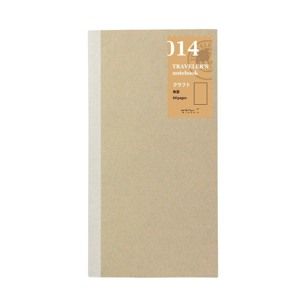 Midori Traveler's Notebook Refill #14 Blank Kraft Paper 14288006