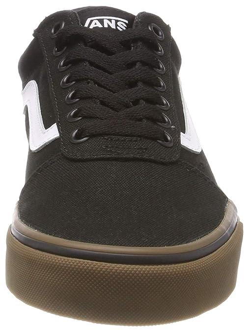 Vans Herren Ward Canvas Sneaker, Schwarz BlackGum 7Hi, EU