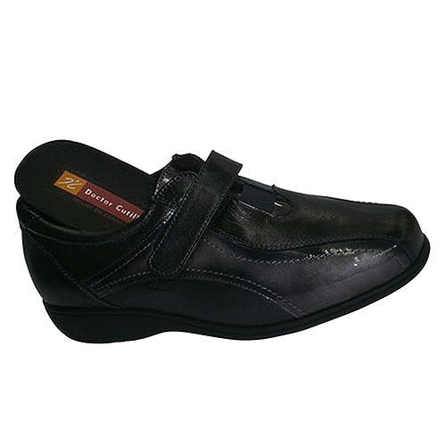 Zapatos con velcro válido para plantillas Doctor Cutillas en negro: Amazon.es: Zapatos y complementos
