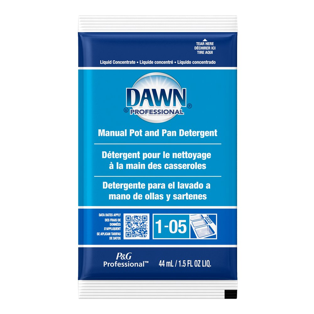 Dawn Professional Manual Pot & Pan Detergent, Regular Scent, 1.5 oz Packets (Case of 120)