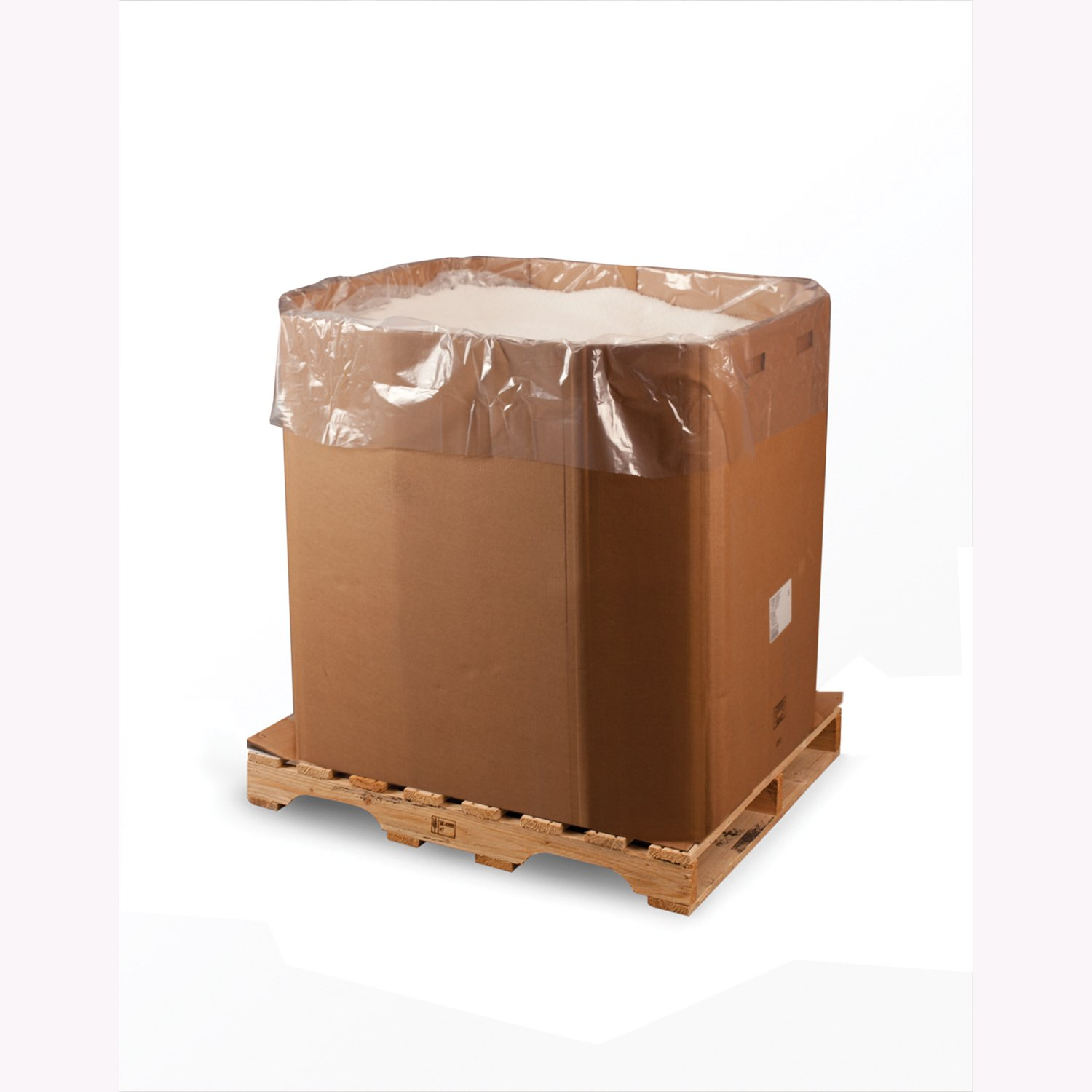 51'' x 49'' x 73'' x 2 mil Clear Eco-Manufactured Plastic Bin and Gaylord Liners (Roll of 55)