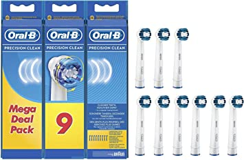 10 pezzi!! Oral B Precision Clean Spazzole di ricambio Spazzole OralB-LOTTI