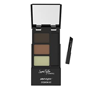 Eyebrow Kit By Lauren Taylor Cosmetics - A Long Lasting Double Powder Palette With Wax, Brush & Mirror. Color Shading Is Light & Dark Brown. Create Perfect Eyebrows With Our Best Brow Shadow Makeup!