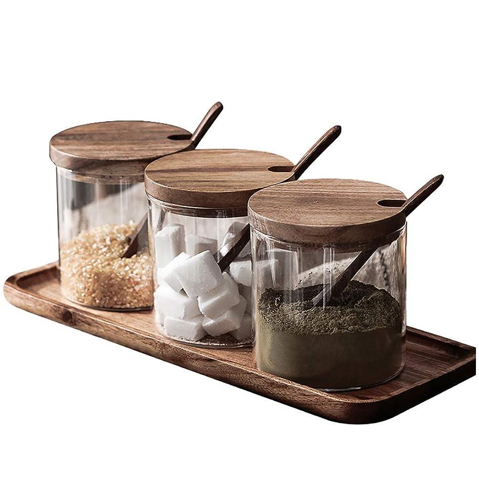 蒸留葉巻類似性ワグナービン ガラス蓋 スパイス瓶 -10本セット-