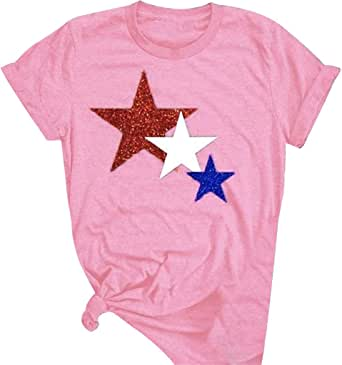 Hattfart Fourth July T Shirt Patriotic T-Shirt American Flag T Shirt Independence Day Tee