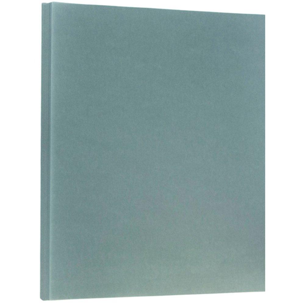 JAM PAPER Translucent Vellum 43lb Cardstock - 8.5 x 11 Coverstock - Ocean Blue - 50 Sheets/Pack