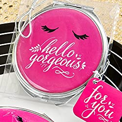 Fashioncraft 5970 Hello Gorgeous Metal Compact Mirror