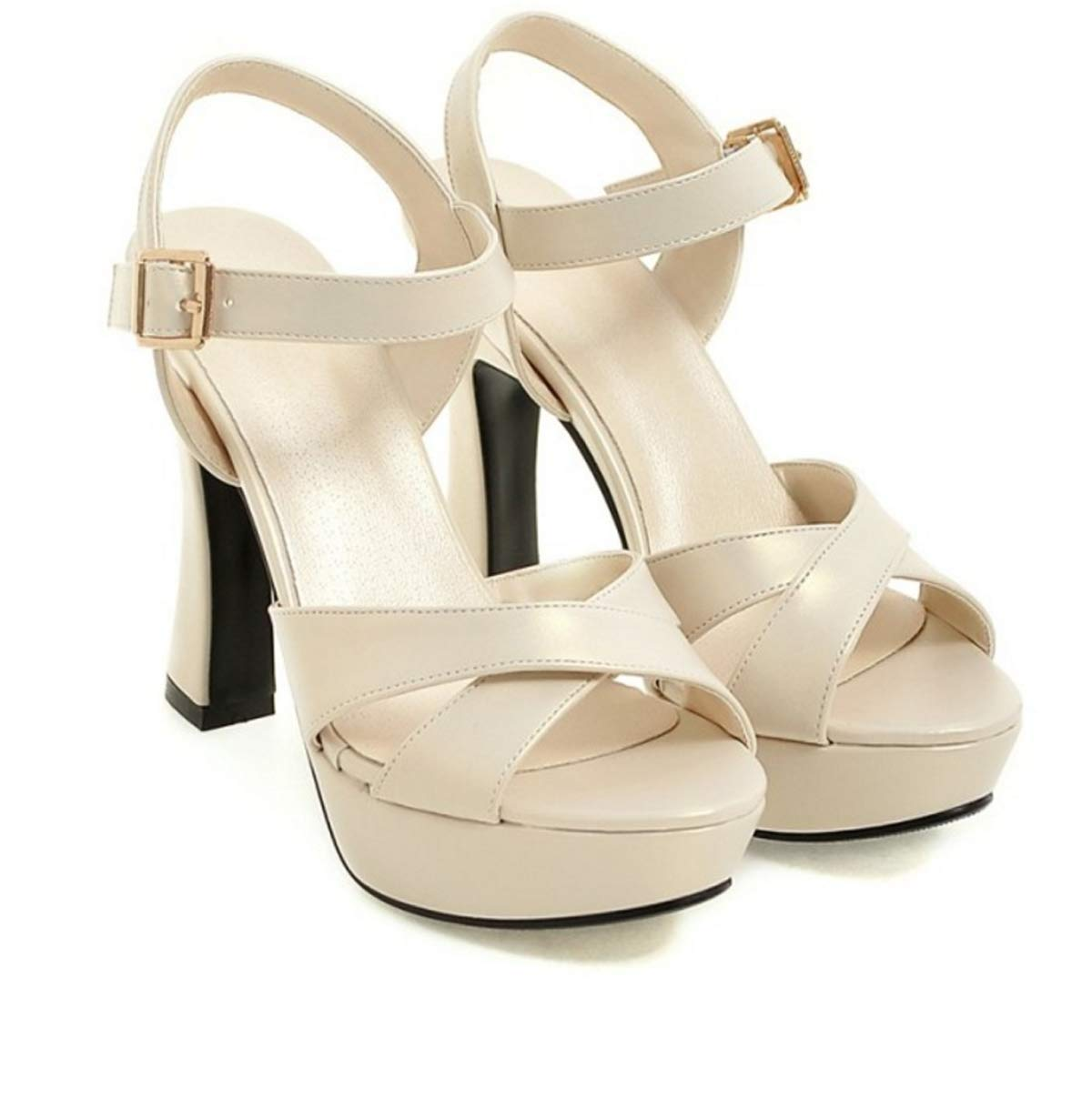 HBDLH Damenschuhe/Im Sommer 11Cm High Heels Die Die Sandaleen Schwere Wasserdichte Tabellen Faltet Die Damenschuhe Rom Schuhe.