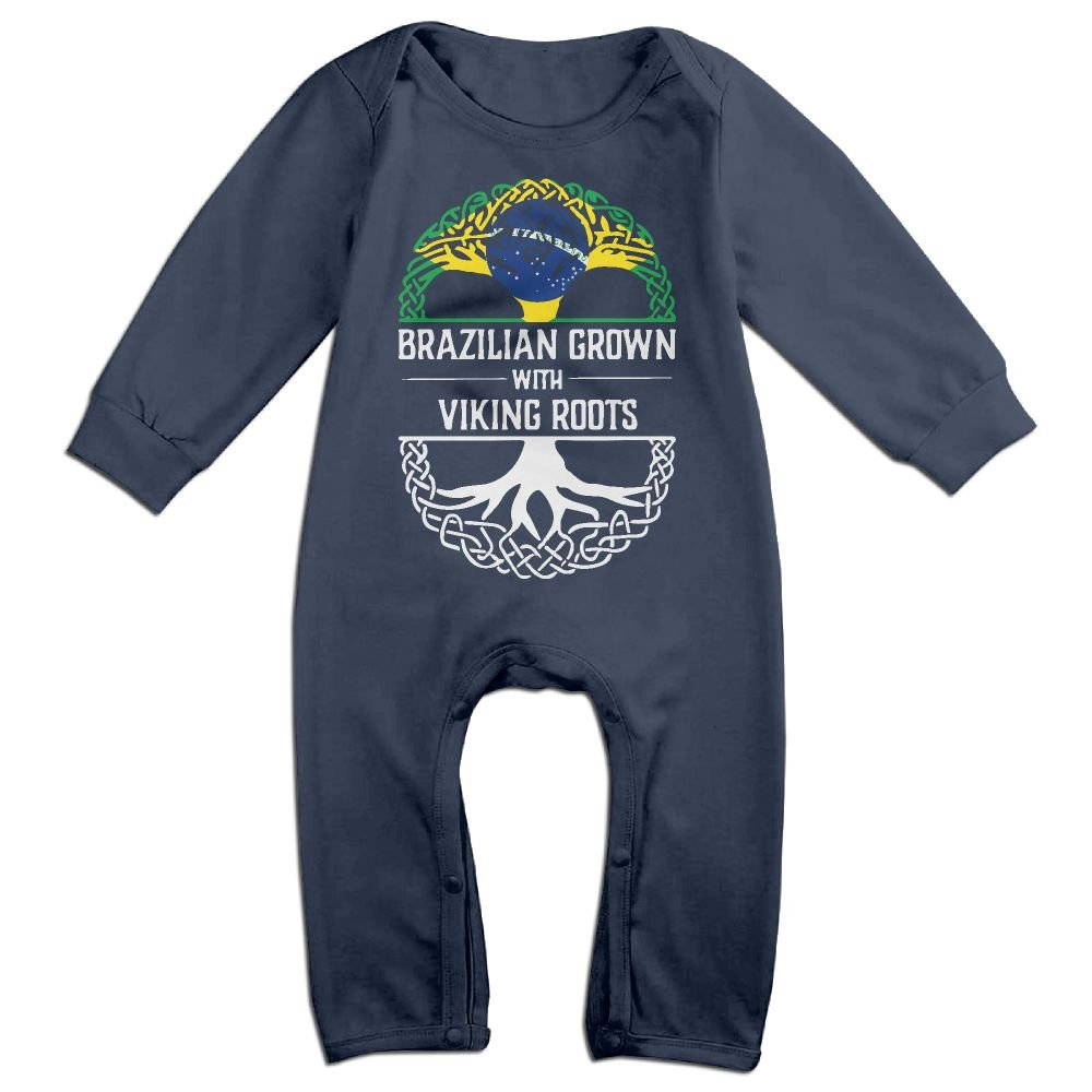 Mri-le1 Newborn Baby Bodysuits Brazilian Grown with Viking Roots Toddler Jumpsuit