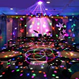 Wonsung Christmas lights 18W LED magic ball LED lighting 6-colors crystal light entertainment Disco KTV dancing home birthday new year gathering celebration party effect lighting professional DJ Stage equipment Lighting Colorful LED Light, Sound Activated LED Rainbow Projector RGB LED Light Sound Activated, Apply Lighting For DJ Disco House Party Hotel Stage Office Camping Field Etc, Lighting For Halloween