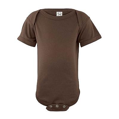 Clementine Infant Baby Rib Bodysuit (4400) -Brown -12MOS