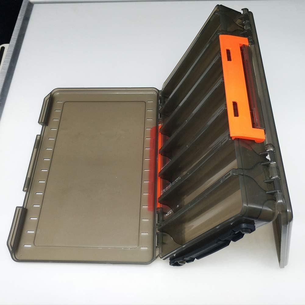 Fayeille Angelk/öder-Boxen Aufbewahrungsbeh/älter faltbar wasserdicht Angelzubeh/ör multifunktionale Haken stabil doppelseitige K/öder Organizer tragbar