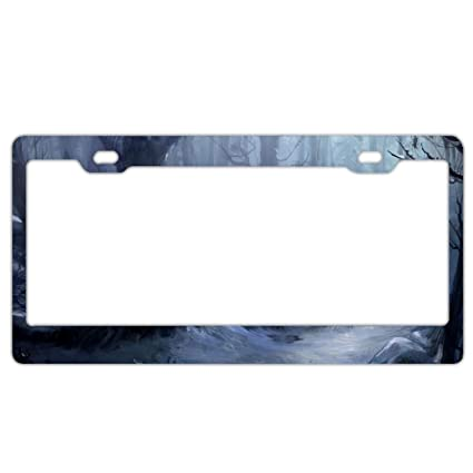 Amazoncom Kslids Laser Cut Chrome License Plate Frame Dark Creepy