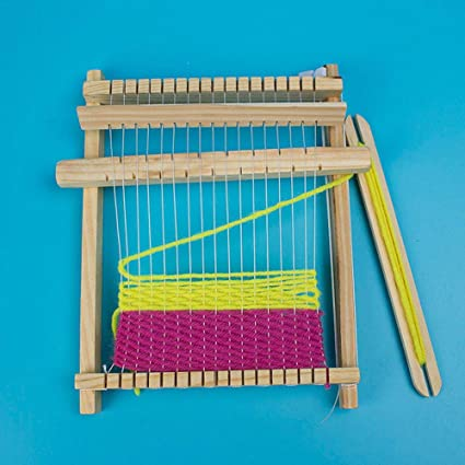 Eillybird Weaving Loom Kit Loom Wooden Weaving Toy With
