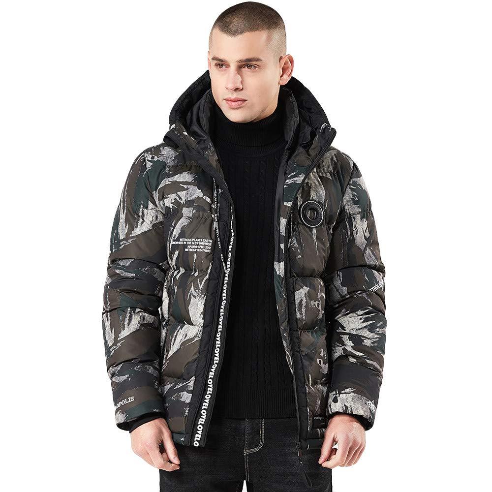 Men Winter Coat Sale Hoodie Camouflage Printing Waterproof Thickened Cotton Jacket