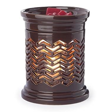 Candle Warmers Etc. Precision Cut Illumination Fragrance Warmer, Chevron