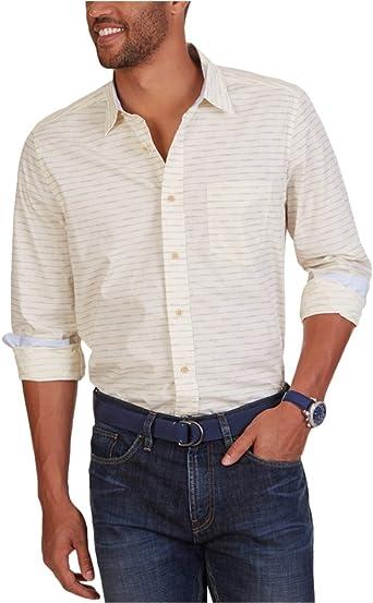 Nautica Hombre W62226 Manga Larga Camisa con Botones: Amazon.es: Ropa y accesorios