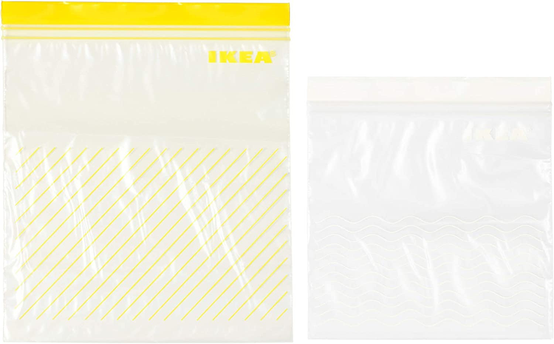 IKEA 303.393.49 Istad Plastic Freezer Bag, Yellow/White