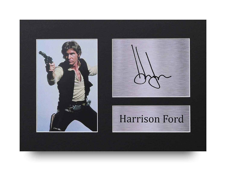Harrison Ford Les Cadeaux Ont Sign/é A4 LAutographe Imprim/é Star Wars Han Solo Affichage dimage de Photo DEmpreinte