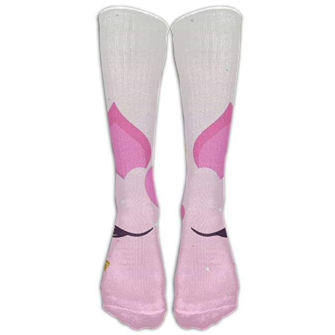 a8d962ea74b Amazon.com  Sleeping Unicorn With Golden Angle Mens Socks Womens Socks  40cm  Clothing