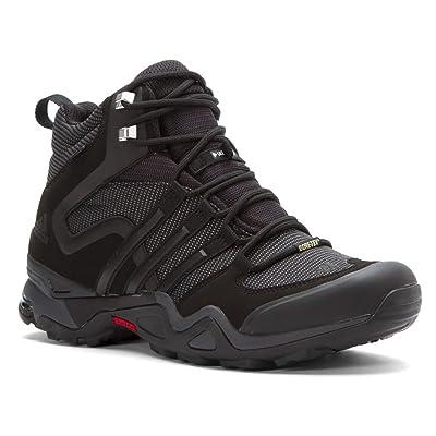 adidas outdoor Terrex Fast X High GTX Hiking Boot - Men's Black/Dark Grey/Power Red 8 | Hiking Boots