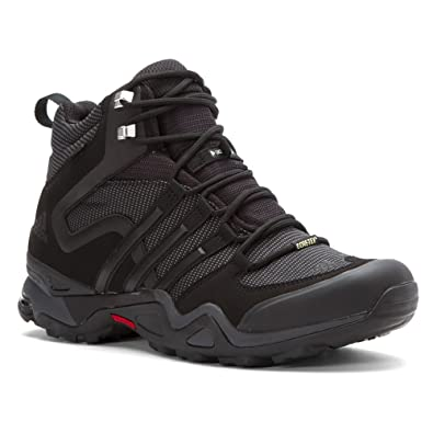 Adidas Sport Performance Men's Fast X High GTX Hiking Boots, Black Textile,  Rubber,