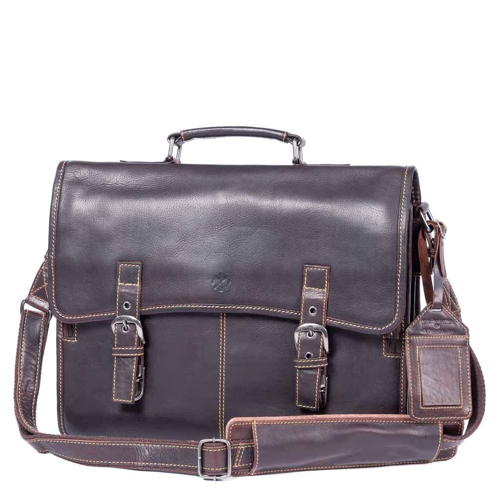 JLP MELBOURNE ALINTA COGNAC Genuine Leather Briefcase