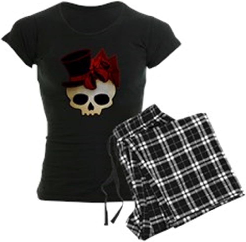 CafePress Cute Gothic Skull in Top Hat Womens PJs