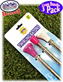 Mɑtty's Toy Stop Deluxe Twirling Baton Pink, White & Purple Team Gift Set Bundle - 3 Pack